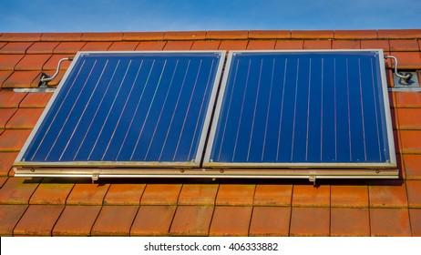 Solar panel to heat water