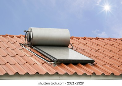 Solar panel for hot water system accumulating sunlight energy
