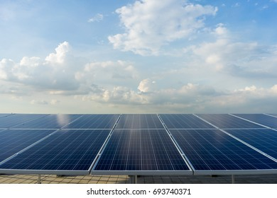 solar panel In an industrial company