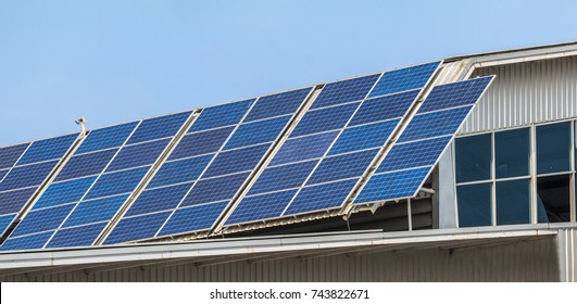 solar panel installation on roof.