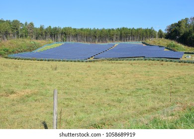 solar panel installation - wide angle photograph