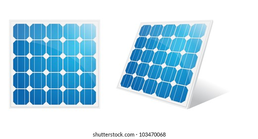 Solar panel isolated on a white.