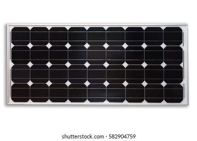 Solar panel isolated on white.