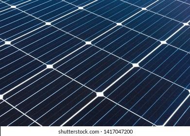 Solar panel module close up.