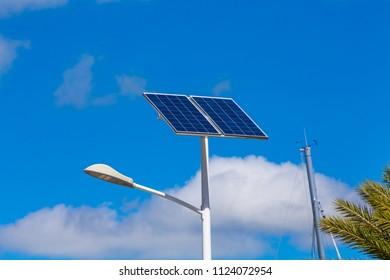 Solar Panel on Light