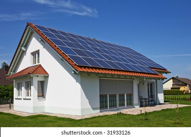 solar panel on a roof