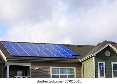 solar panel on the roof