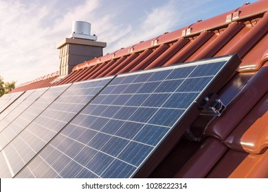solar panel on the roof of ahouse