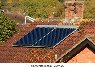 Solar Panel on a roof in Fall
