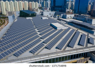 Solar panel on roof top building