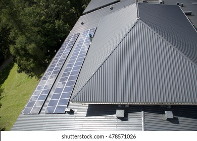 Solar panel on sheet metal roof