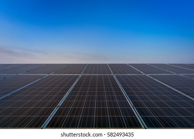 solar panel on sky background
