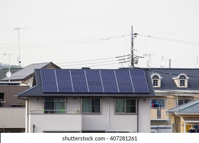 solar panel on top of house's roof