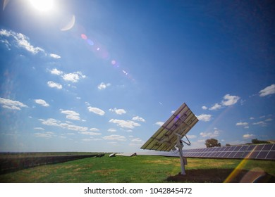 The solar panel is on the tracker