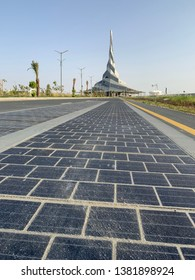 Solar Panel Paved Road Scientific Experiment, Mohamed Bin Rashid al Maktoum Solar Park, Al Qudra, United Arab Emirates, April 26th, 2019