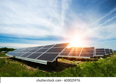 Solar panel, photovoltaic, alternative electricity source - concept of sustainable resources - Shutterstock ID 603025976