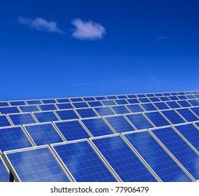 Solar panel. Photovoltaic energy. Green energy from sun.