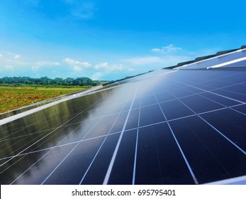 Solar Panel Photovoltaic installation on a Roof
