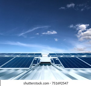 Solar Panel Photovoltaic installation on a Roof of a building, alternative electricity source - Concept  Image of Sustainable Resources