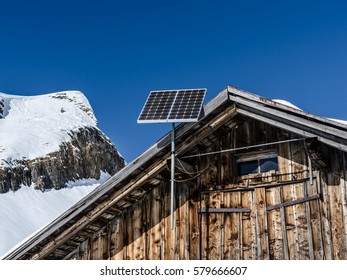 Solar panel for photovoltaic in Swiss mountains