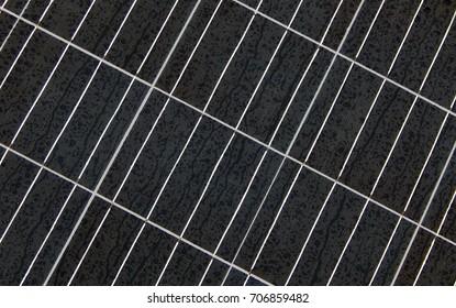 Solar panel in rain background