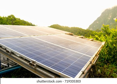 Solar panel in rural area