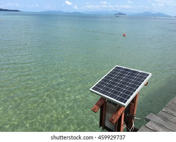 Solar panel and the sea