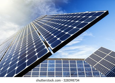 Solar Panel, Sun Flare