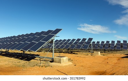 Solar panel system. Energy production at Spain