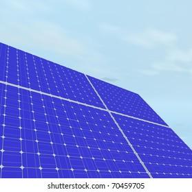Solar panels. 3d computer modeling