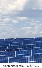 solar panels against the sky