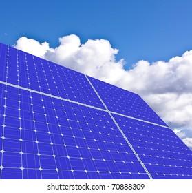 Solar panels. alternative sources of energy