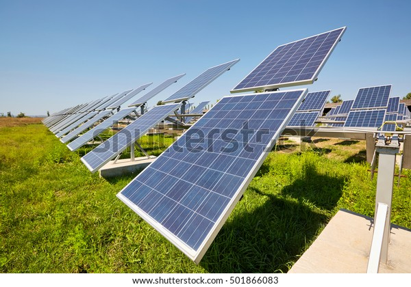Solar Panels Alternative Sources Power Solar Stock Photo ...