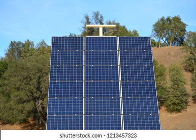 Solar panels catching the sun rays. Power from the sun is a beautiful thing.