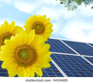 Solar panels: in cleaning environment background