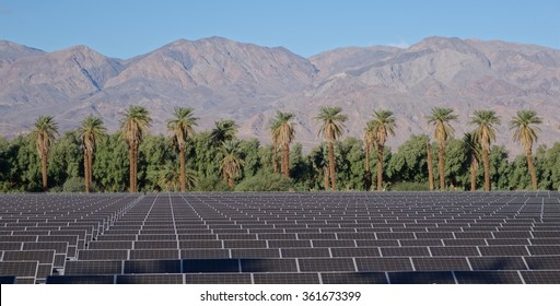 Solar Panels in Death Valley National Park, California