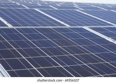 Solar panels, detailed view