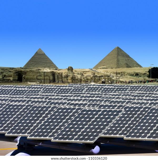 Solar panels in Egypt