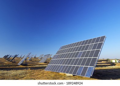 solar panels for electrical energy production.