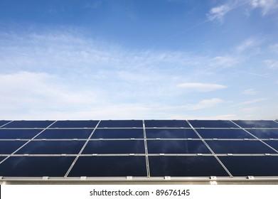 Solar panels energy field