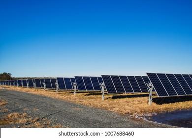 Solar Panels Solar Farm Renewable Energy Photovoltaic Infrastructure