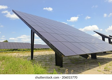 Solar Panels in field on sunny day