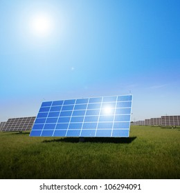 solar panels to generate electricity