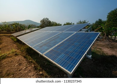 Solar panels generator the industry of modern energy, Ecologically clean sources of electrical energy.