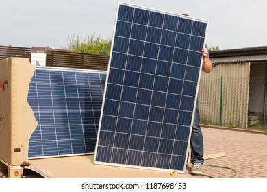 Solar panels for green energy