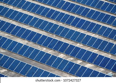 Solar panels installed on building roof in Adelade, South Australia