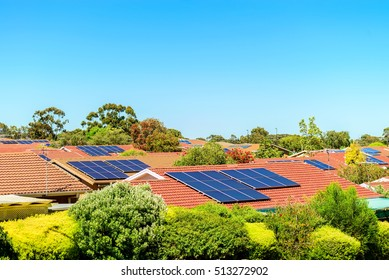 Solar panels installed on the roof in South Australia