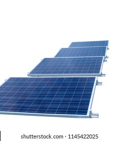 Solar panels isolated on white background. Solar energy concept Images.