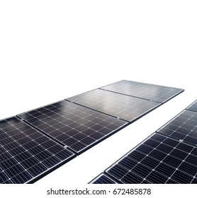 Solar Panels isolated in white background for solar energy concept images.
