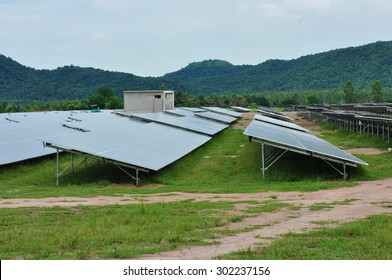 the solar panels in mountain